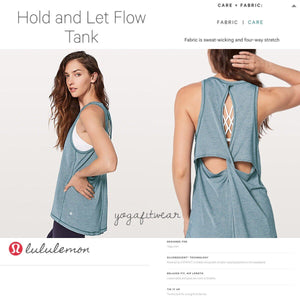 Lululemon - Hold and Let Flow Tank (AUD) (Heathered Nile Blue) (LL02140)