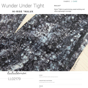 Lululemon - Wunder Under Tight*Hi-rise *NULUX  (AUD) (Crystal Haze Multi Black) (LL02179)