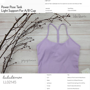 Lululemon - Power Pose Tank(USA) (Lilac Quartz) (LL02145)
