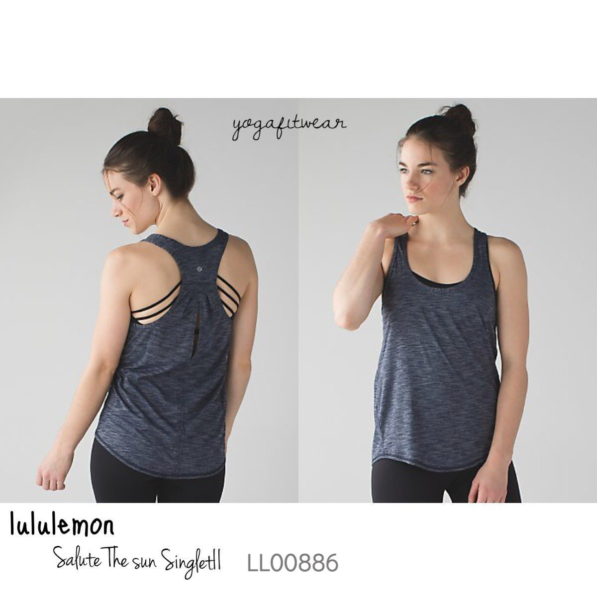 Lululemon - Salute the sun SingletII (Heathered Inkwell) (LL00886)