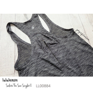 Lululemon - Salute the sun SingletII (Heathered Black) (LL00884)