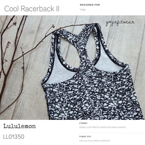 Lululemon - Cool Racerback (Ice Breaker white black) (LL01350)