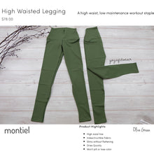 Montiel - High Waisted Legging (USA) (Olive Green) (MT00100)