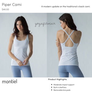 Montiel - Piper Cami (USA) (White) (MT00030)