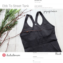 Lululemon - Ebb to street Tank (Black) (LL01566)