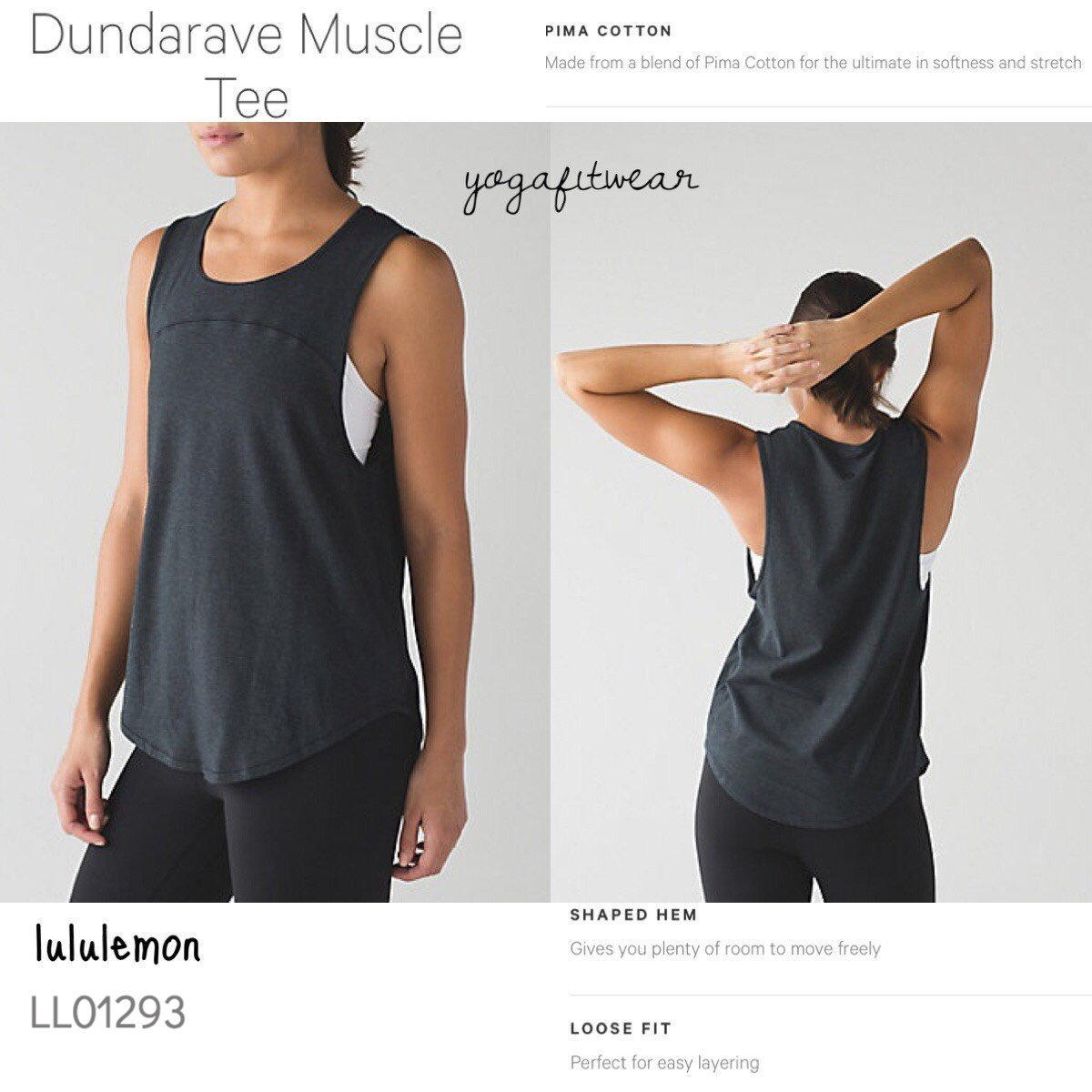 Lululemon - Dundarave Mascle Tee (Heathered Black) (LL01293)