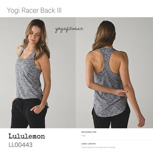 Lululemon - Yogi Racer BackIII (4color space dye white black) (LL00443)