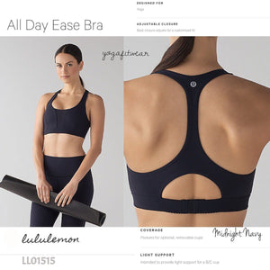 Lululemon -  All Day Ease Bra (Midnight Navy) (LL01515)