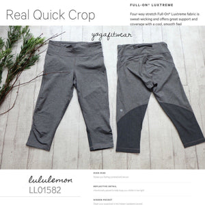 Lululemon - Real Quick Crop (Heathered black) (LL01582)