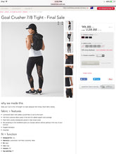 Lululemon - Goal Crusher 7/8 Tight (Black) (LL00966)