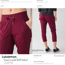 Lululemon - Street to studio PantII*Unlined (Rosewood) (LL01112)