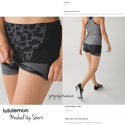 Lululemon - Meshed Up Short (Cherry cheet dark slate clack) (LL01153)