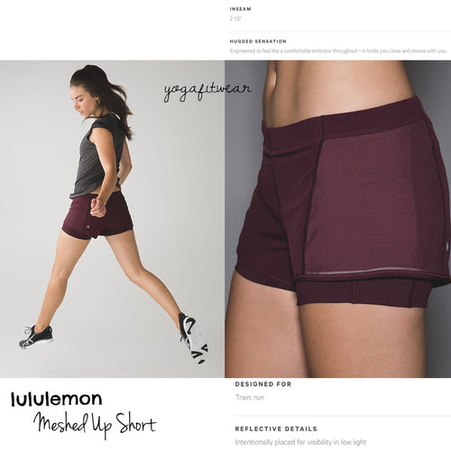 Lululemon - Meahed Up Short (Bordeaux Drama/Flash Light) (LL01154)