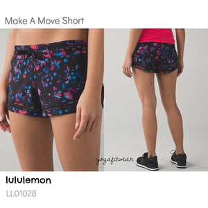 Lululemon - Make A Move Short (Dandy Digie Porcelaine black) (LL01028)