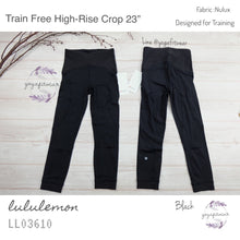 "Lululemon - Train Free High-Rise Crop 23"" (Black) (LL03610)"