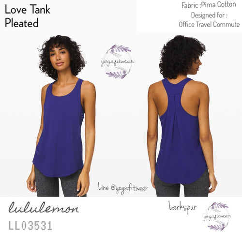Lululemon -  Love Tank*Pleated (Larkspur) (LL03531)