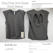 Lululemon - Stop Drop and Squat Short Sleeve (Heathered Black) (LL02183)