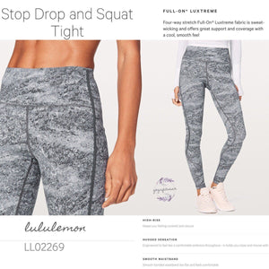 Lululemon - Stop Drop and Squat Tight (Area Ice Grey) (LL02269)