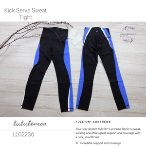 Lululemon - Kick Serve Sweat Tight (Black/Blazer Blue/White) (LL02236)