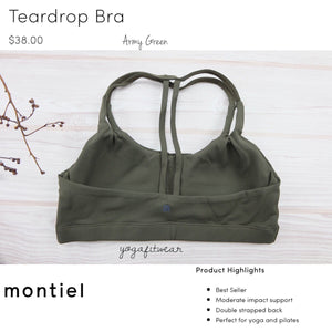 Montiel - Teardrop Bra (Army Green) (MT00103)