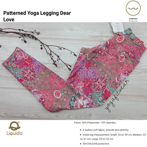 "Liquido - Pattern Yoga Legging ""Dear Love"" (LQ00530)"