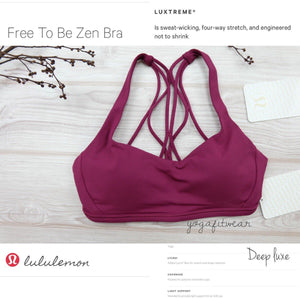 Lululemon -  Free To Be Zen Bra (Deep Luxe) (LL02298)