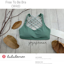 Lululemon - Free to be Bra*Wild (Vintage Green/minty grey) (LL00080)