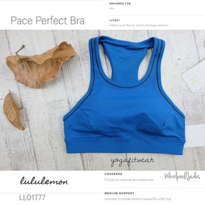 Lululemon - Pace Perfect Bra*Storage (Whirlpool/Jaded) (LL01777)