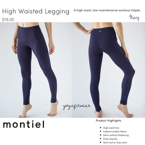 Montiel Legging - High Waisted Legging (Navy) (MT00088)