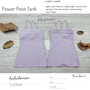 Lululemon -  Power Pose Tank (Rose Quartz) (LL01841)