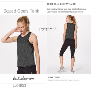 Lululemon - Squad Goals Tank (Heathered Black) (LL01853)