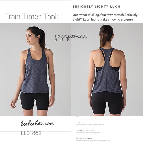 Lululemon - Train Times Tank (Heathered Deep Navy) (LL01862)