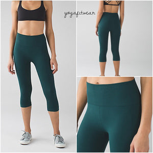 Lululemon -  Flow& Go Crop (Deep green) (LL00775)