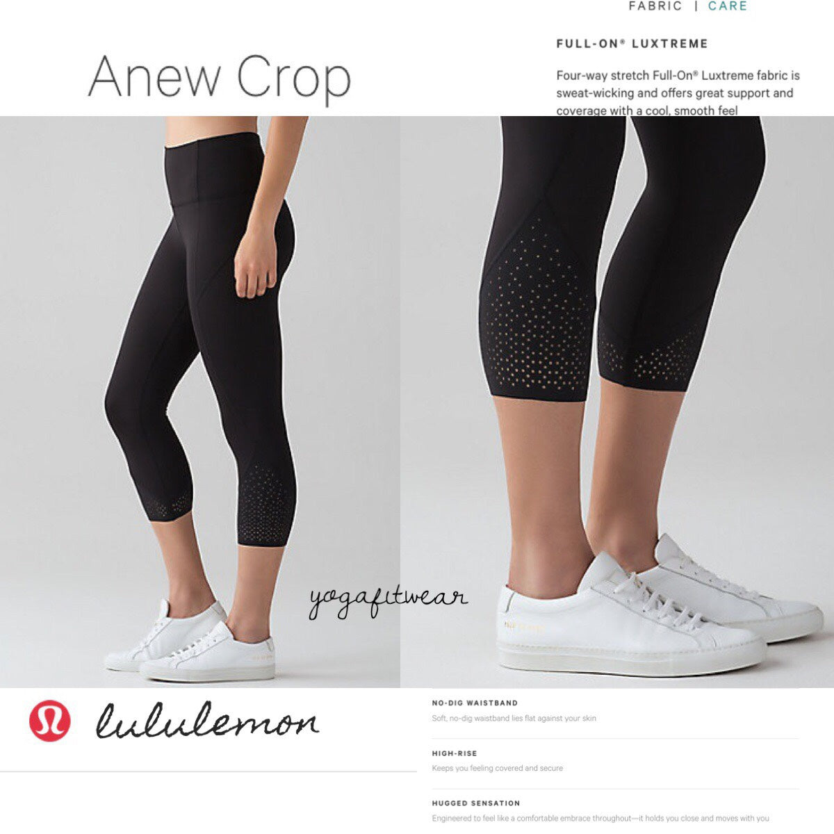 Lululemon - ANEW Crop (black) (LL01648)