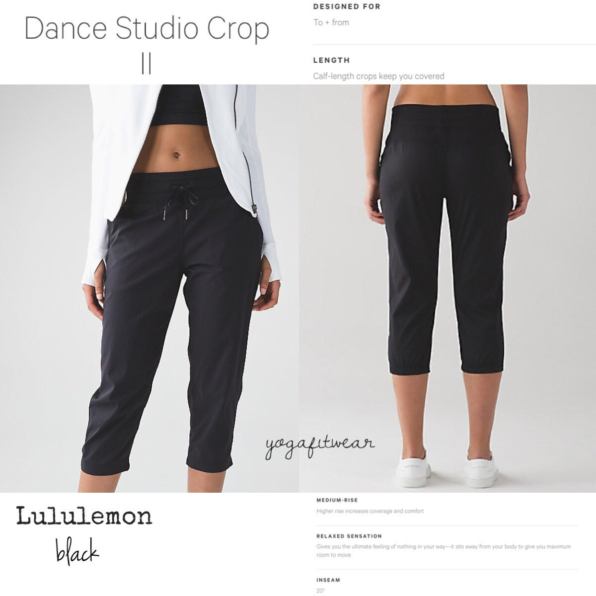 Lululemon - Dance Studio CropII*Unlined20