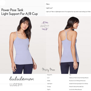 Lululemon - Power Pose Tank (Misty Moon) (LL02311)
