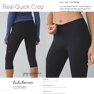 Lululemon - Real Quick Crop (black) (LL01581)