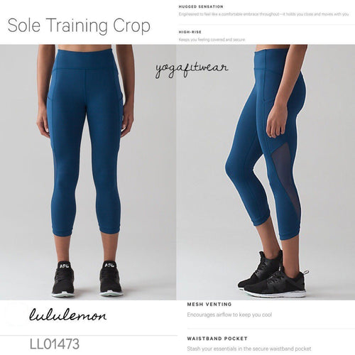Lululemon - Sole Training Crop (Poseidon) (LL01473)