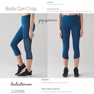 Lululemon - Body Con Crop (Poseidon) (LL01456)