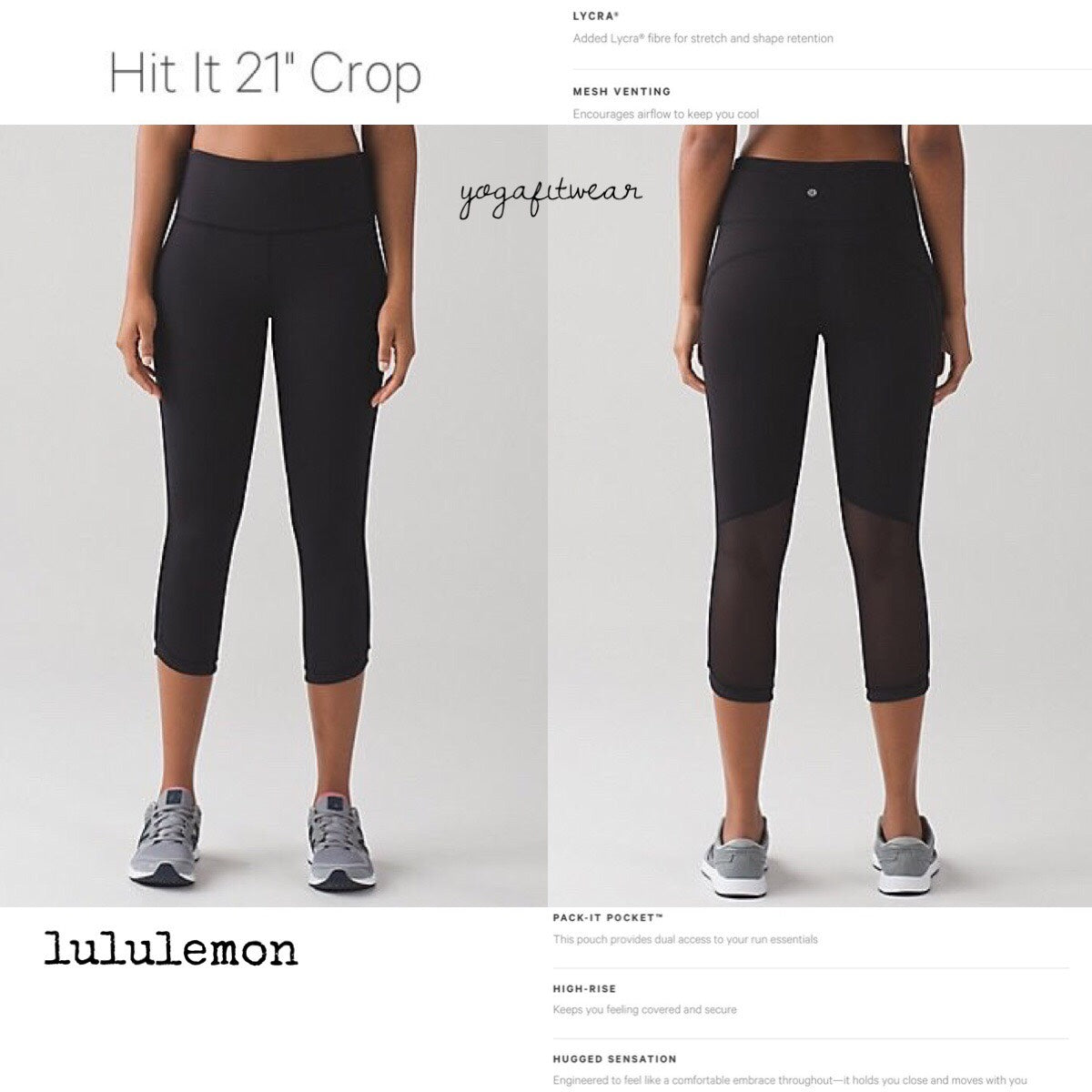Lululemon - Hit It Crop21