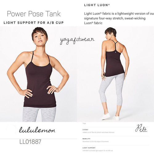 Lululemon - Power Pose Tank*Light Support for A/B Cup (Pelt) (LL01887)