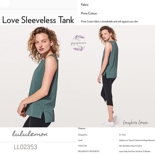 Lululemon - Love Sleeveless Tank (Graphite Green) (LL02353)