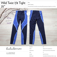 Lululemon - Wild Twist 7/8 Tight (Midnight Navy/Moroccan/Light Horizon) (LL02352)