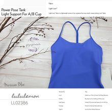 Lululemon - Power Pose Tank*Light Support For A/B Cup (Moroccan Blue) (LL02386)