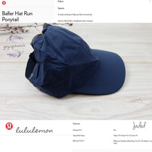 Lululemon - Baller Hat Run*Ponytail ( Jaded ) (LL02393)