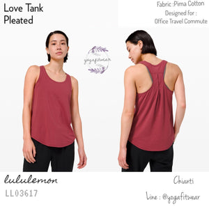 Lululemon - Love Tank *Pleated (Chianti) (LL03617)