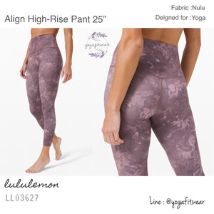 "Lululemon - Align High-Rise Pant 25"" (Rejuvenate Dark Chrome Multi) (LL03627)"