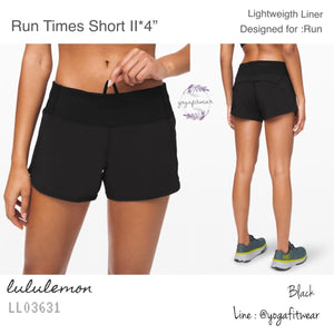 "Lululemon - Run Times Short II *4"" (Black) (LL03631)"