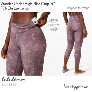 "Lululemon - Wunder Under High-Rise Crop 21""*Full-on Luxtreme (Rejuvenate Multi) (LL03630)"