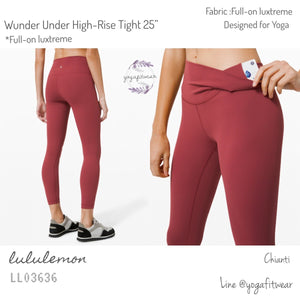 "Lululemon : Wunder Under High-Rise Tight 25""*Full-on luxtreme (Chianti) (LL03636)"